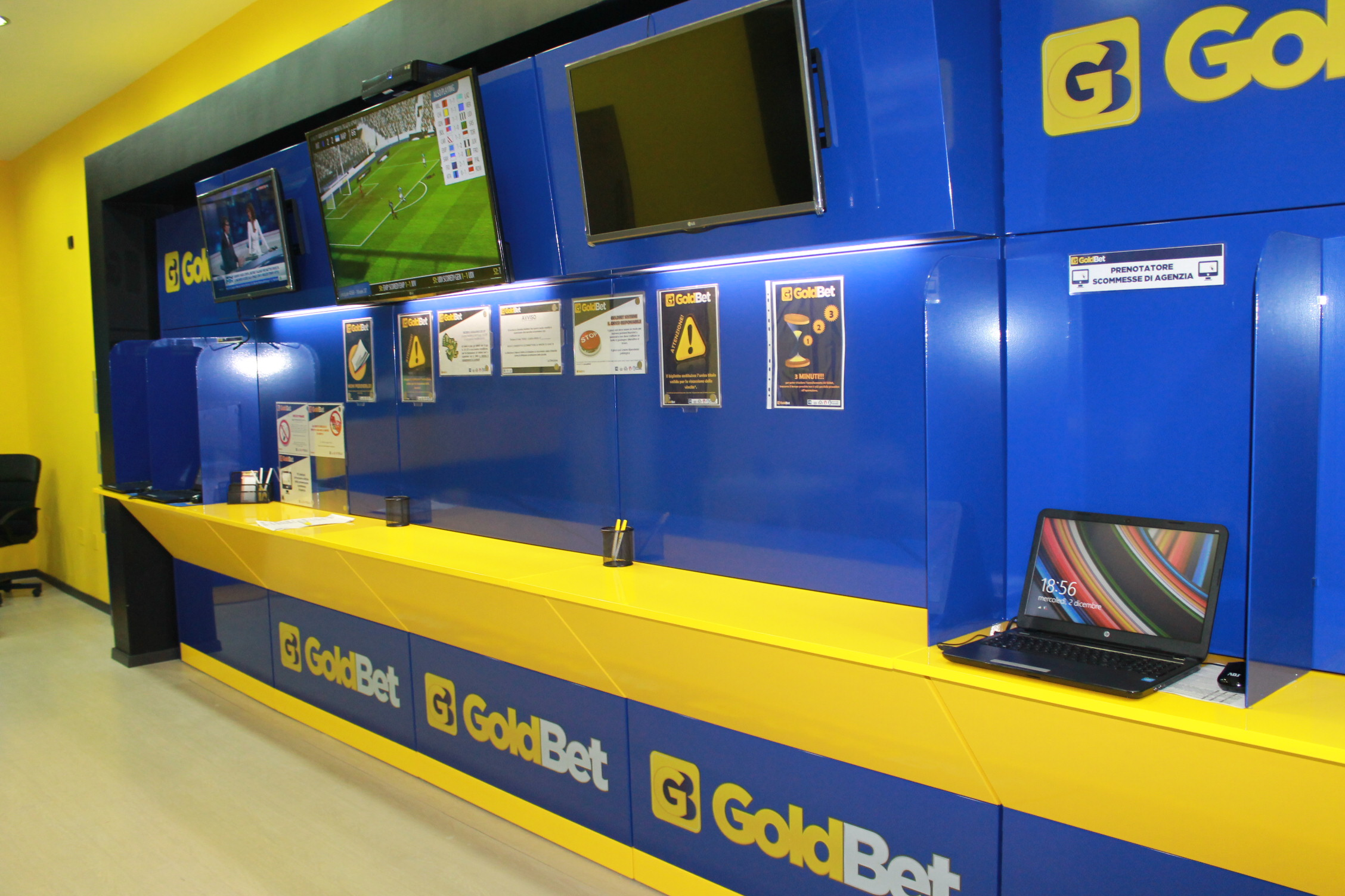 Gallery goldbet arreda gaming l 39 arredamento scommesse for Arredamento centro scommesse
